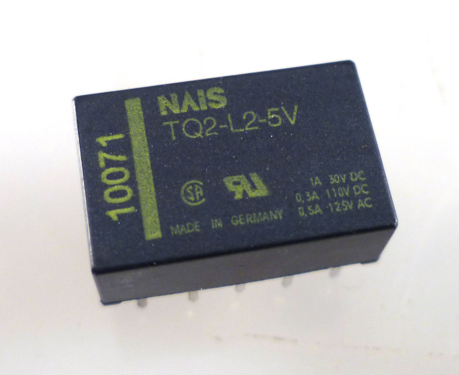 Nais Tq2 L2 5v 2 Coil Latching Pcb Signal Relay Low Profile Dpdt 12vdc Om0285a