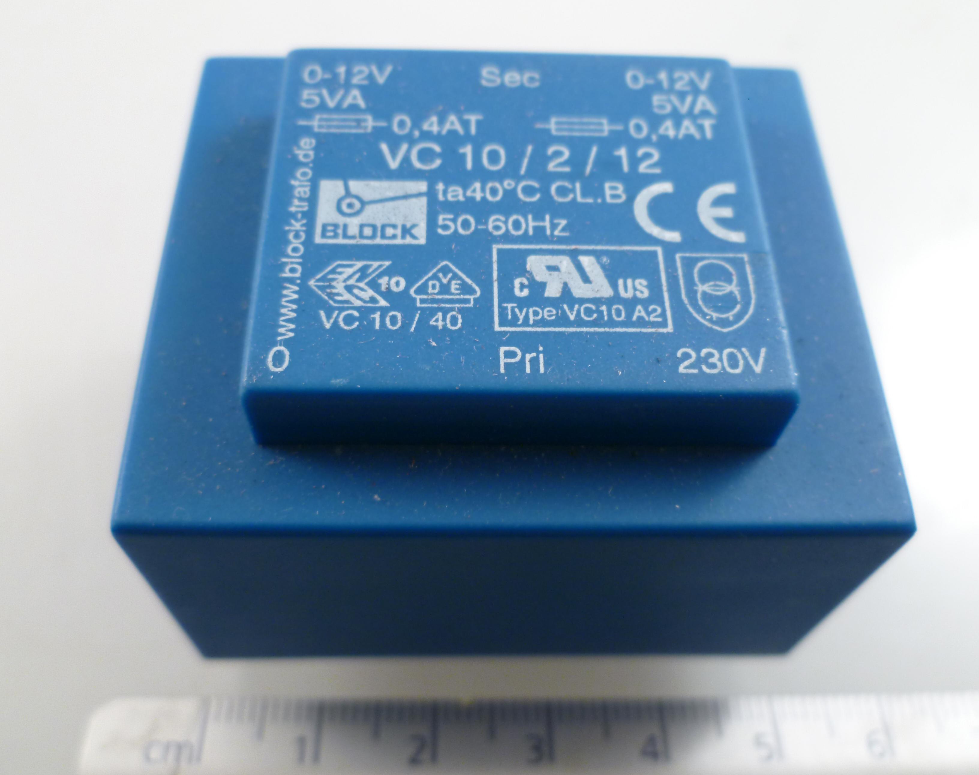 Sec Trasformatore da  circuito stampato Prim 12Volt  x 2 220V