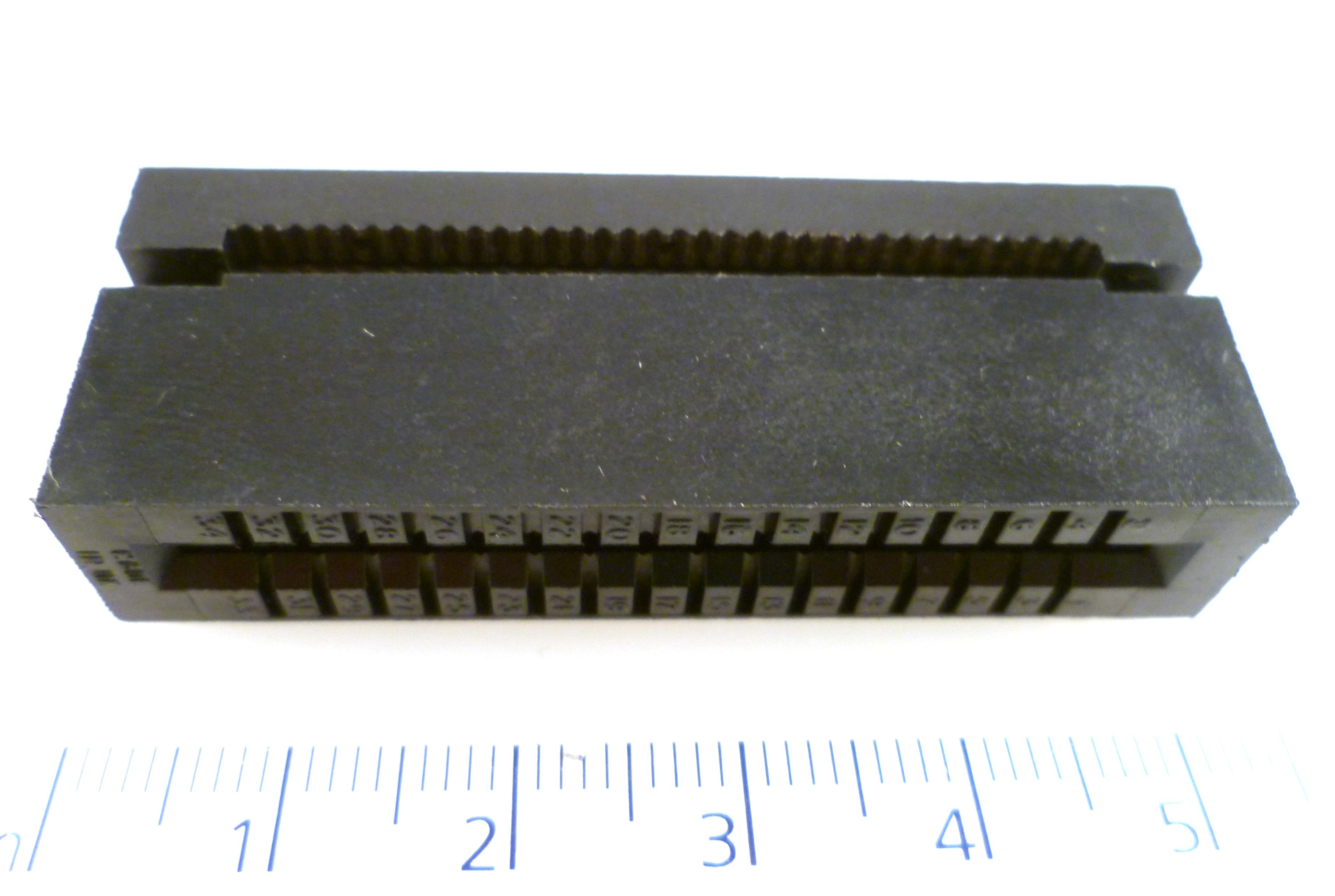 MIDLAND ROSS CD6734 BRN 34 Way IDC Ribbon Cable Card edge connector MBH011i