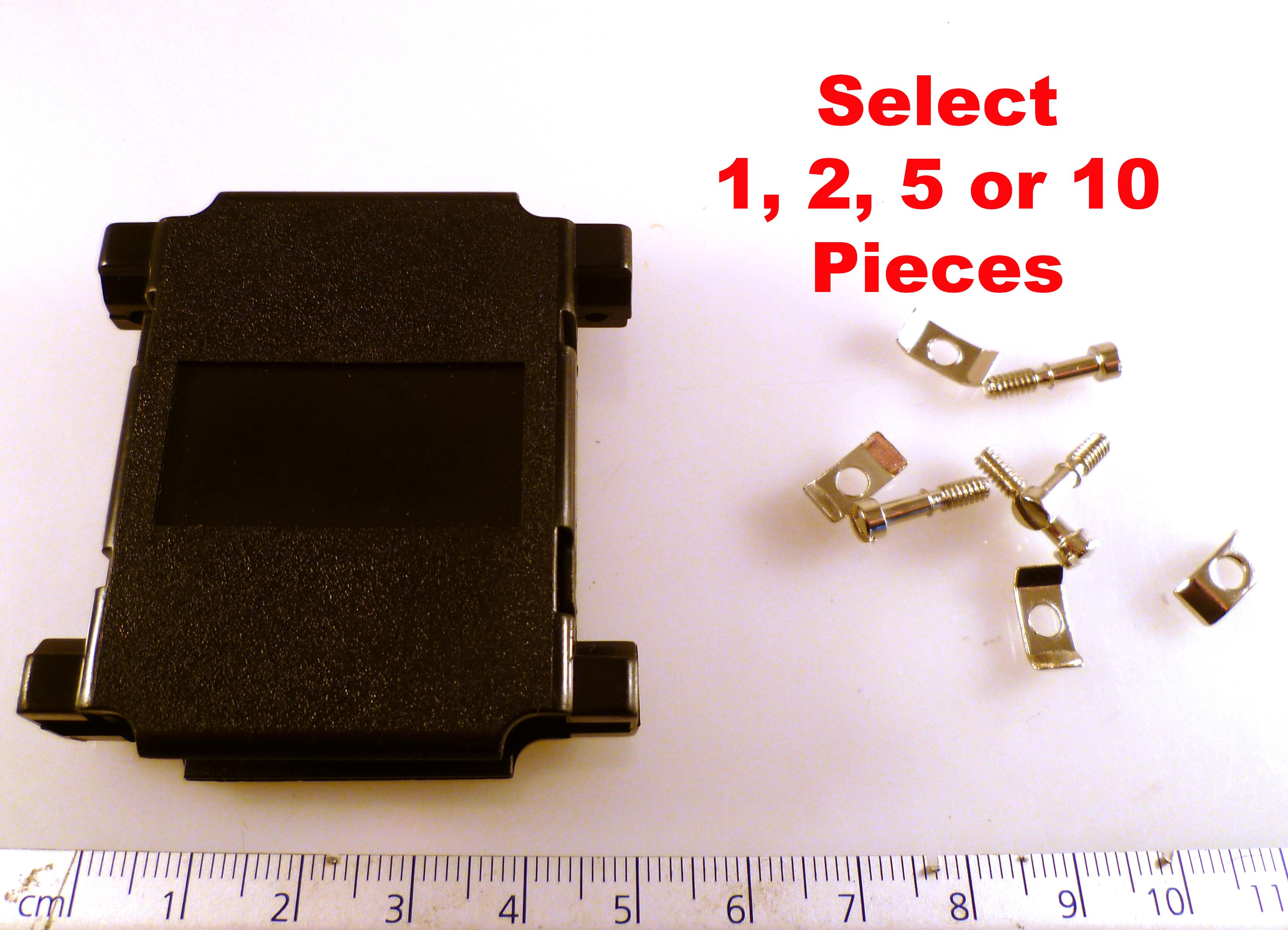 D Type 9 Way ABS Screw Lock Cover Easy Grip Black OM0254C