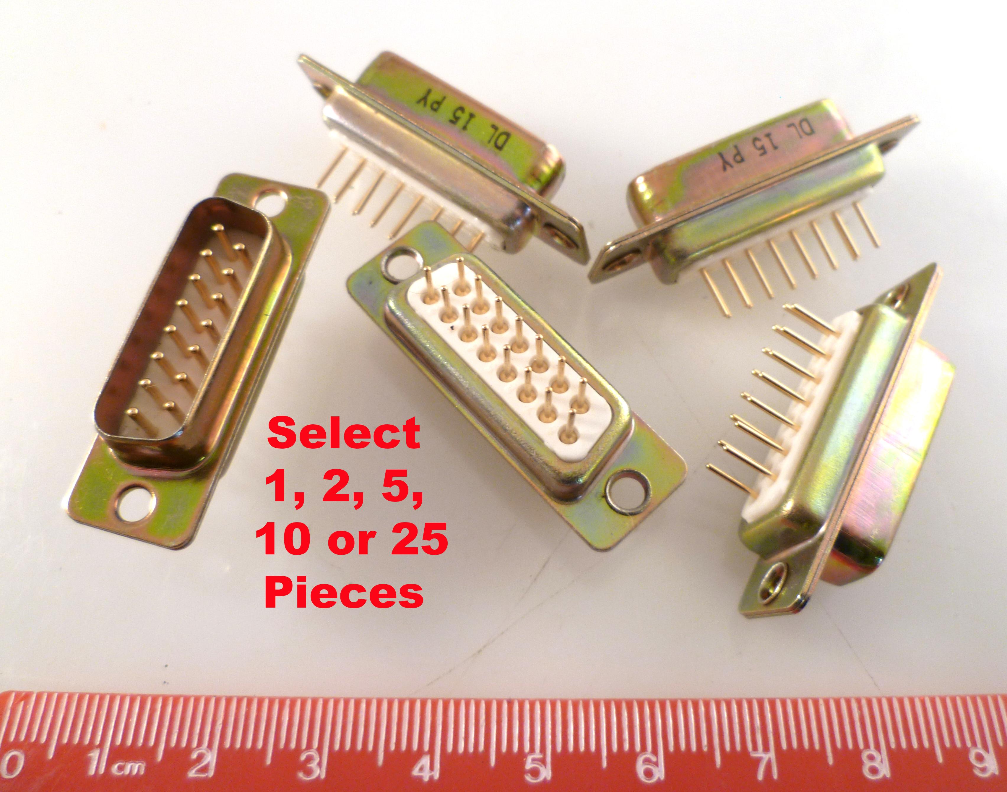 D Type 15 Way Socket Gold Contacts Solder Bucket OM0244