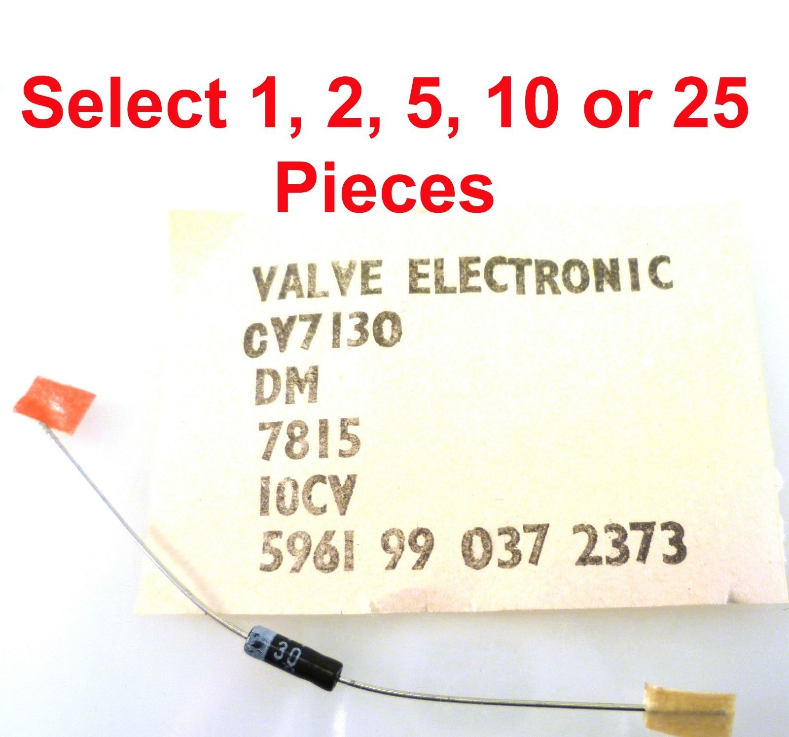 Mullard Cv7130 Oa91 Germanium Signal Diode Do 7 Case 1 2 5