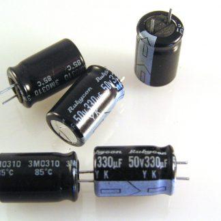 330UF 50V RUBYCON RADIAL ELECTROLYTIC CAPACITORS YXF 50v330uf 10PCS