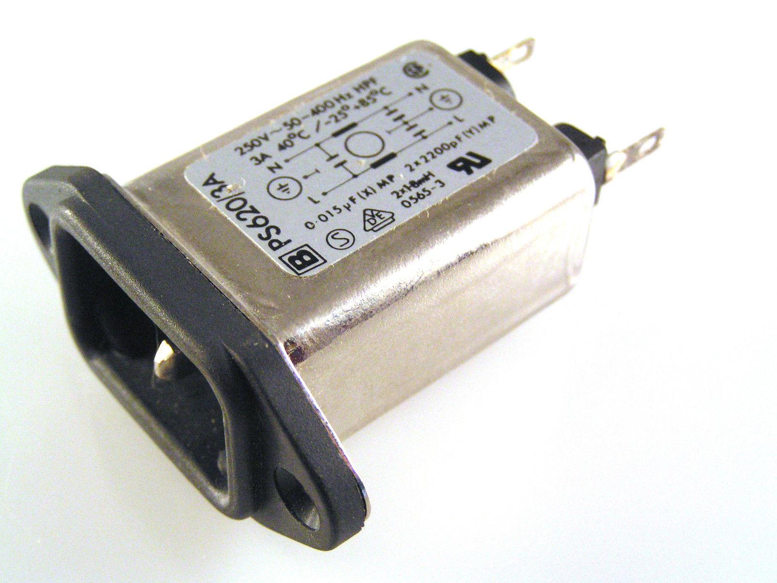 Timonta FKF2-45-2//I Fused Mains Filter IEC Input Socket 250VAC 2A Swiss OM0388c
