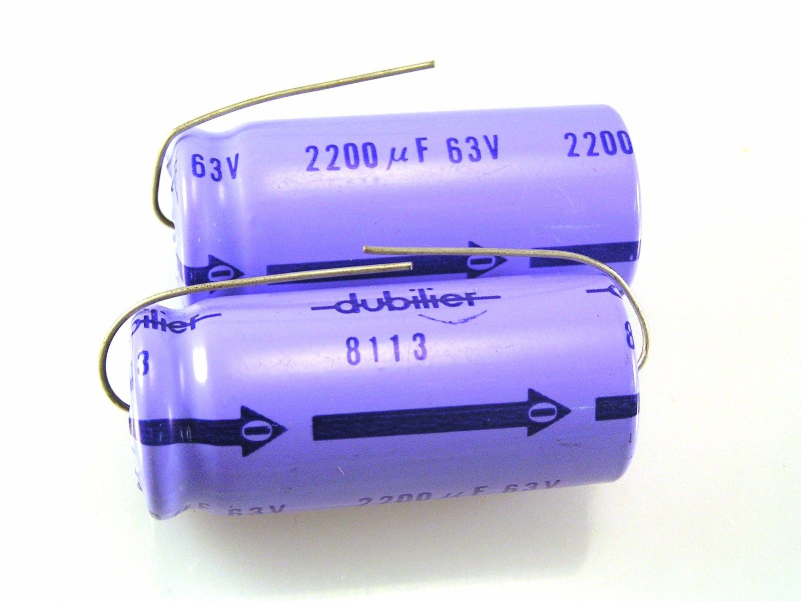 Philips 2222-132-18101 100uF 63V 85oC  Electrolytic Capacitor Axial Capacitors