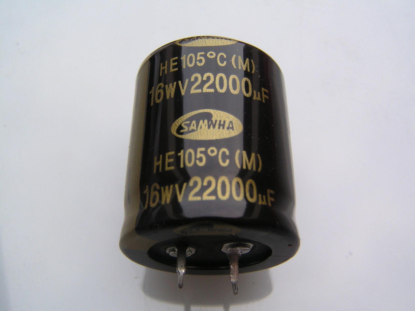 RD 4700uF * vendedor del Reino Unido * 105 ° C alta fiabilidad Radial condensador Samwha - 16 V