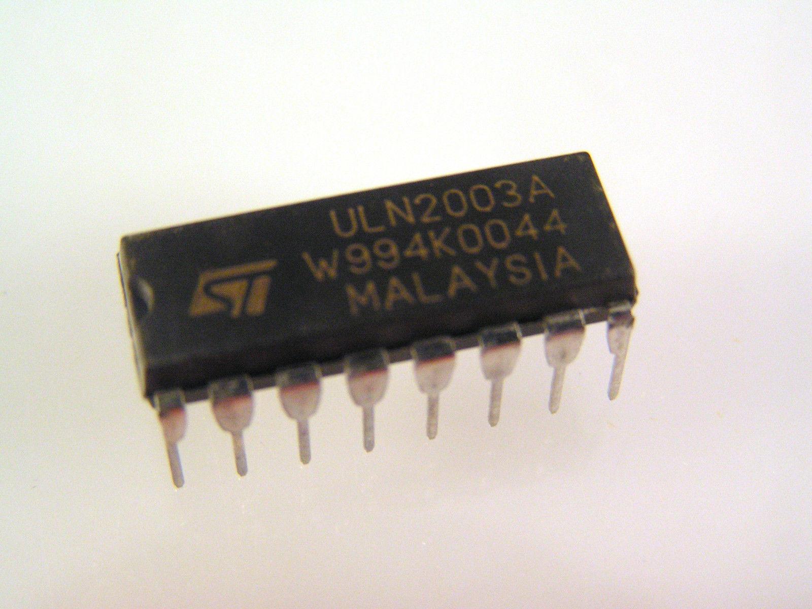 St Uln2003a Darlington Transistor Array 16dil Ic Date 2000 New Old Thedarlingtonpaircircuitjpg Stock Om035a