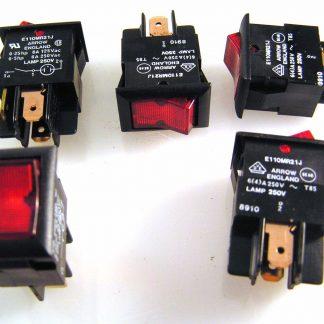Arrow E110MG11J Green 125V Lamp Mini Rocker Switch SPST 8A 125V 2 Pieces OM0579
