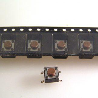Diptronics DTSA-6 Tactile Switch R//A Mount 6mm N//O Short Button 10 Pcs OM0779a