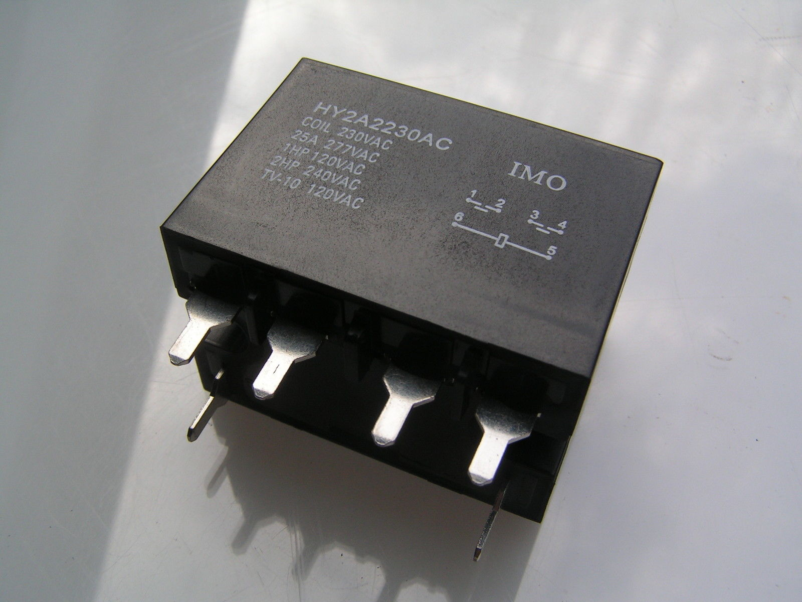 IMO Relay HY2A124AC 24VAC COIL 25A 277VAC DPDT OM364
