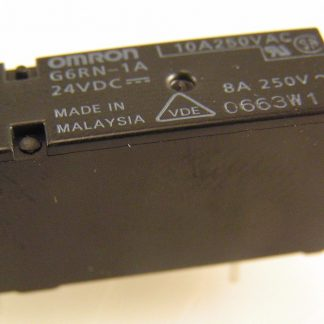 Omron Relay G6RN-1A 24V DC Coil Single Pole Normally Open 8A 250VAC OM0304D
