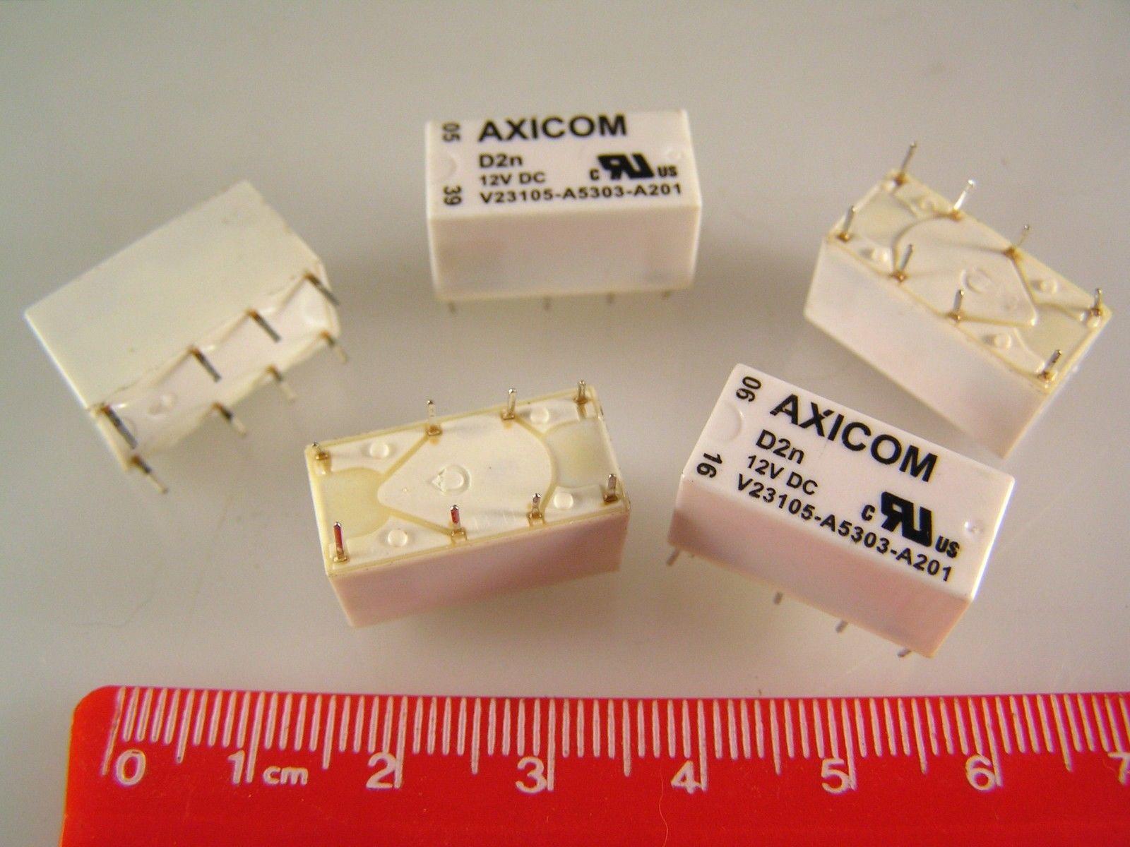 Genuine Axicom V23105 A5303 A201 Signal Relay Dpdt 12vdc 3a Non Latching